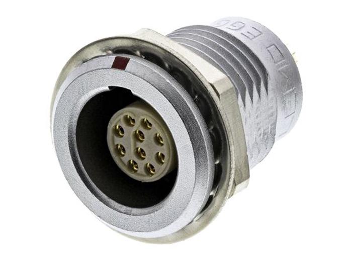CONECTOR LEMO SERIE 1B HEMBRA BASE PANEL 10 CONTACTOS - EGG.1B.310.CLL