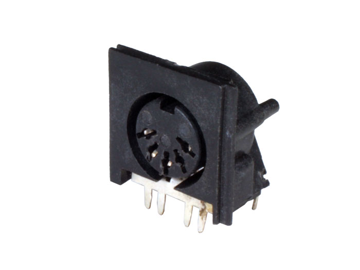 Conector DIN 41524 Hembra Chasis 5 Polos 45° - 10.146/5