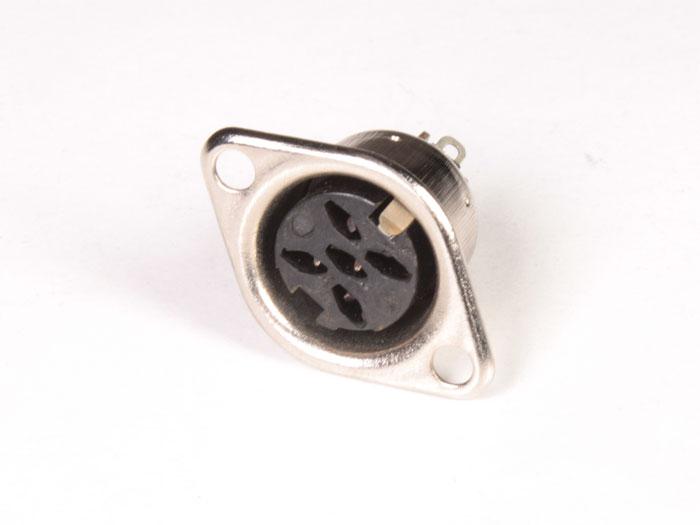 Connecteur DIN 41322 pour Circuit Imprimé Femelle 5 Pòles 90°