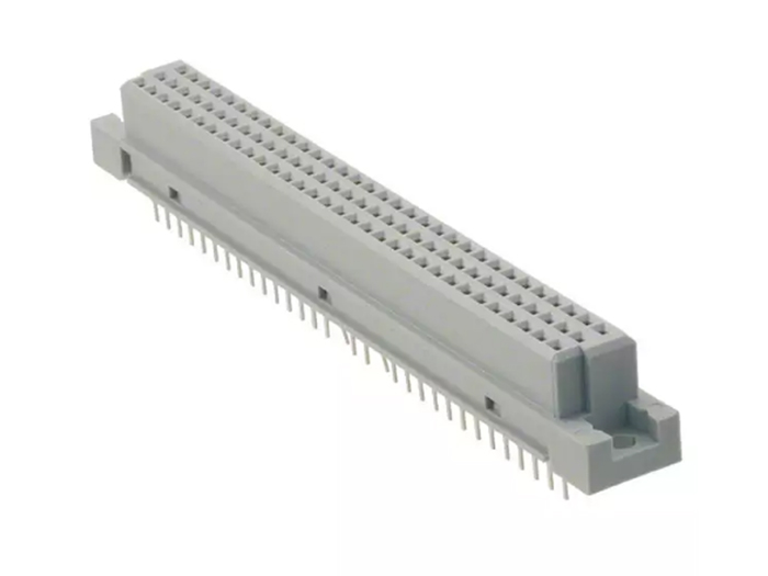 Type C DIN 41612 female in-line mount connector 96 contacts a+b+c
