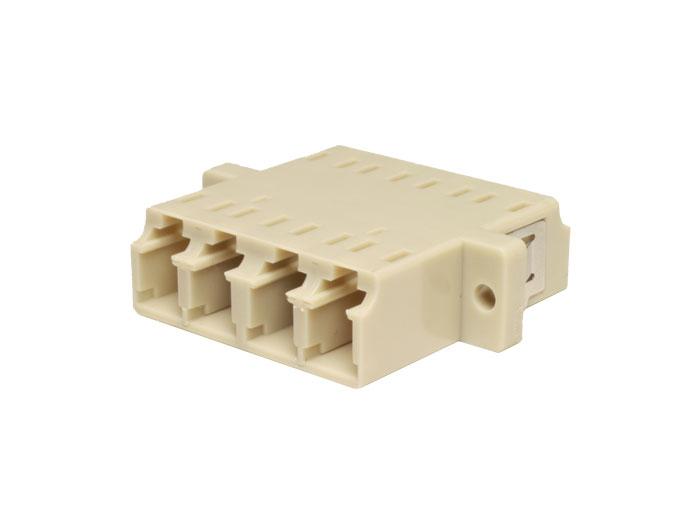 Adaptador fibra ótica LC-LC multimodo quádruple