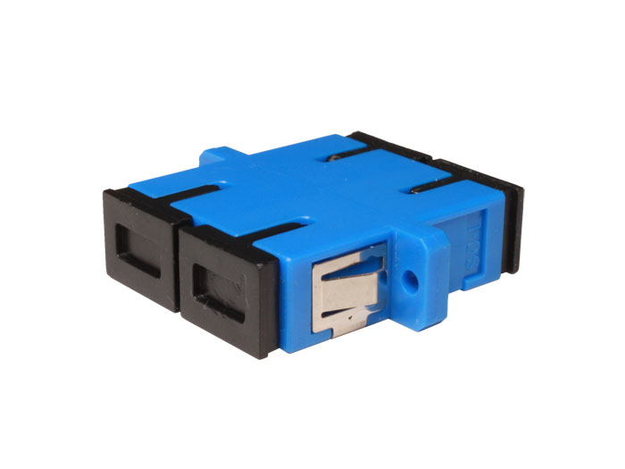 Sc to sc single-mode fiber optic adapter duplex