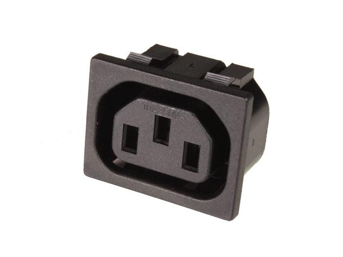 Conector IEC 60320 C13 Hembra Chasis Encastrar - Faston 4,8 mm - 31209