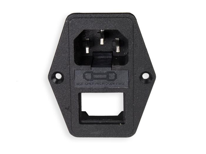 Connecteur CEI 60320 C14 Châssis Mâle avec Porte Fusible sans interrupteor