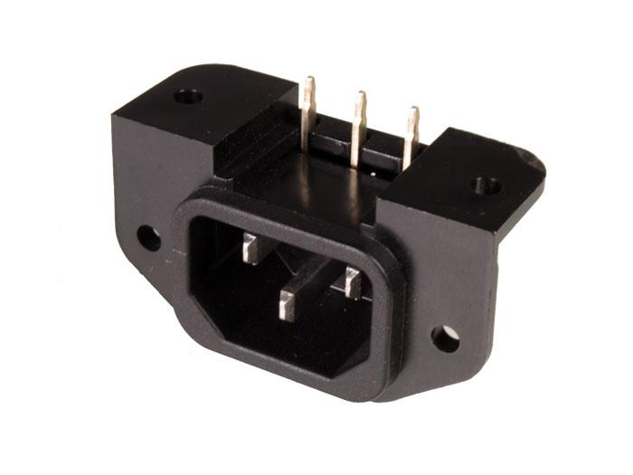 Conetor IEC 60320 C14 Chassis e/ou Circuito Impresso - Macho - 31.211/T7