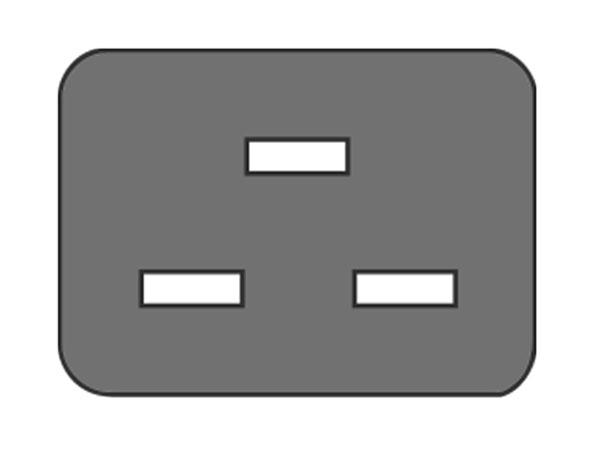 IEC 60320 C19 Cable-Mount Female Connector - PX0599 BULGIN
