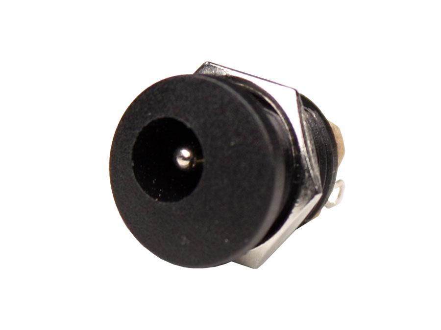 Connecteur Jack Alimentation Femelle Chassis Plastique 5,5 mm - 2,5 mm - Fileté
