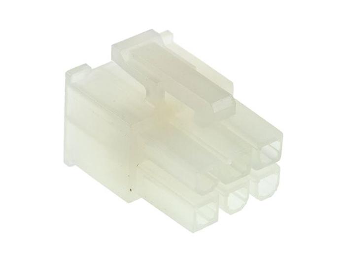 Ficha mini-Fit Jr. 5557 4,2mm fêmea 6 contactos - MOLEX miniFIT 39-01-2060 (similar MF42-HF-06)