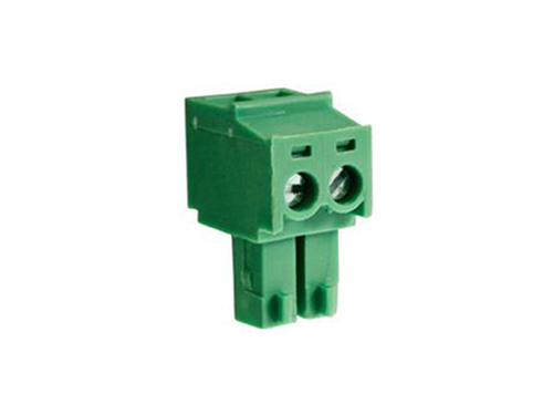 3.81 mm pitch - pluggable right angle PCB female terminal block 2 contacts