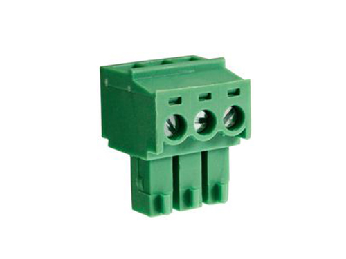 3.81 mm pitch - pluggable right angle PCB female terminal block 3 contacts