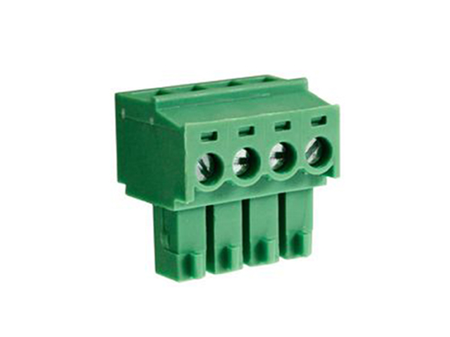 3.81 mm pitch - pluggable right angle PCB female terminal block 4 contacts
