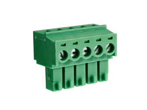 3.81 mm pitch - pluggable right angle PCB female terminal block 5 contacts