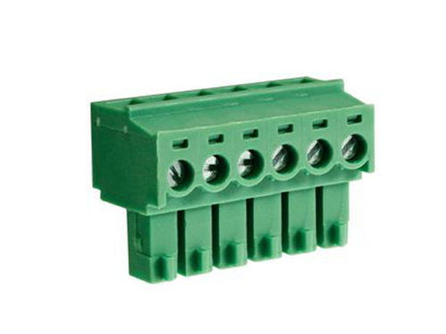 3.81 mm pitch - pluggable right angle PCB female terminal block 6 contacts