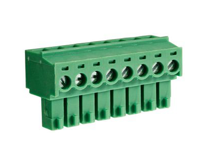3.81 mm pitch - pluggable right angle PCB female terminal block 8 contacts