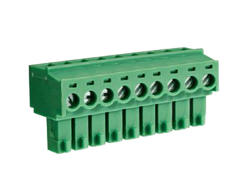 3.81 mm pitch - pluggable right angle PCB female terminal block 9 contacts
