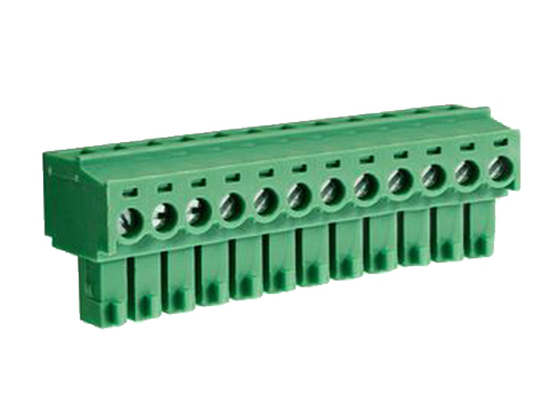 3.81 mm pitch - pluggable right angle PCB female terminal block 12 contacts