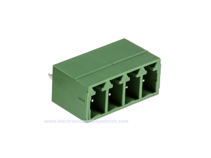 3.81 mm pitch - pluggable straight PCB male terminal block 4 contacts