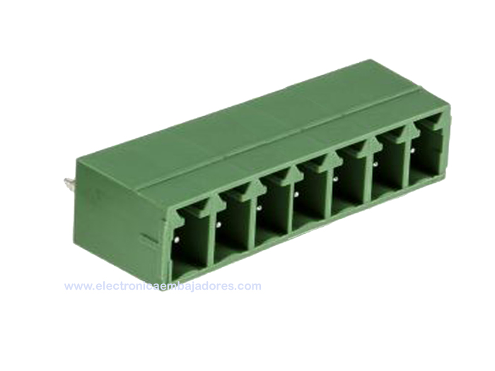 3.81 mm pitch - pluggable straight PCB male terminal block 7 contacts