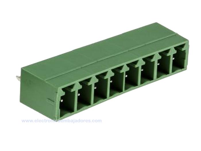 REGLETA CLEMA PCB ENCHUFABLE MACHO RECTO 3,81MM 8 CONTACTOS