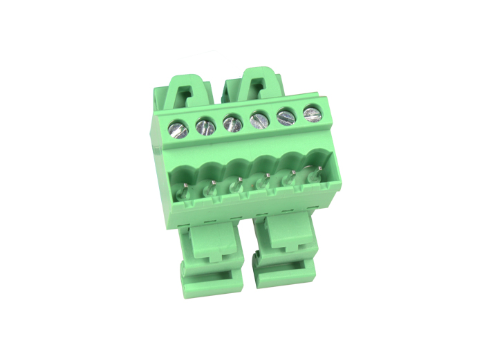 5.08 mm pitch - pluggable straight DIN rail male terminal block 6 contacts - CTBPD96VJ-06