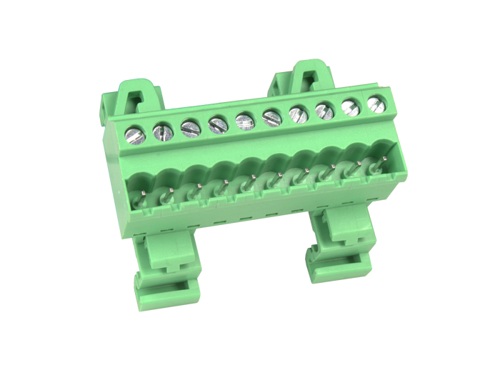 5.08 mm pitch - pluggable straight DIN rail male terminal block 10 contacts - CTBPD96VJ-10