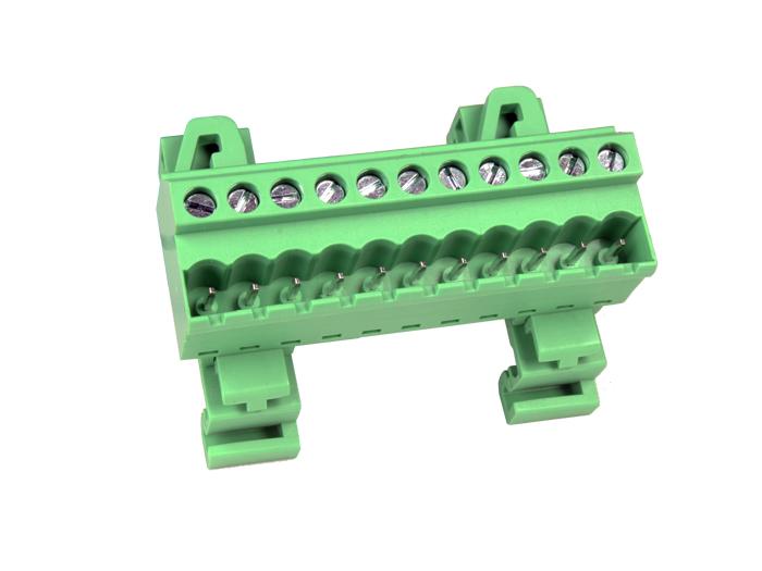 Bloc de jonction pour rail DIN bornier enfichable mâle droite - pas 5,08 mm - 11 pôles CTBPD96VJ-11