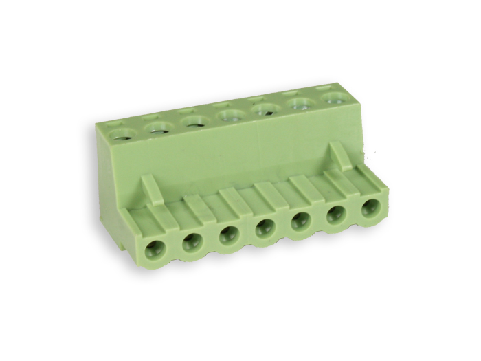 5.08 mm pitch - pluggable right angle female terminal block - 7 contacts