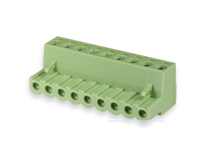 5.08 mm pitch - pluggable right angle female terminal block - 9 contacts