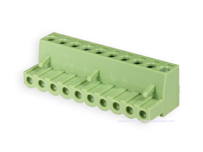 5.08 mm pitch - pluggable right angle female terminal block - 10 contacts