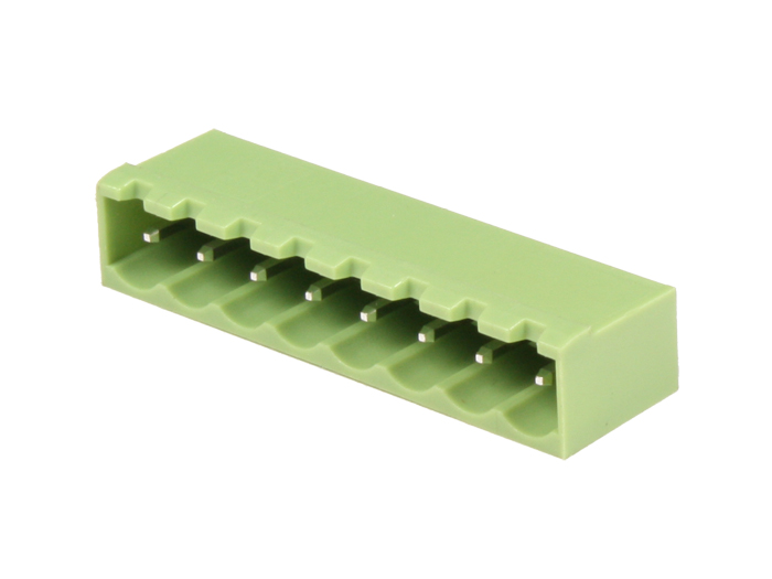 5.08 mm pitch - pluggable straight male closed terminal block - 8 contacts