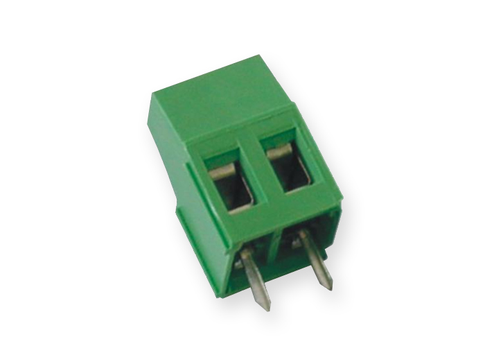 18 mm PCB terminal block 5.08 mm pitch 2 contacts