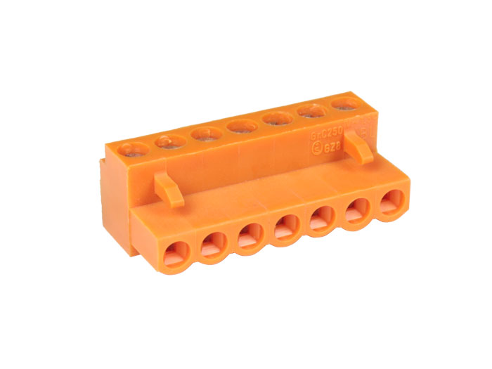 5.00 mm pitch - pluggable right angle female terminal block - 7 contacts