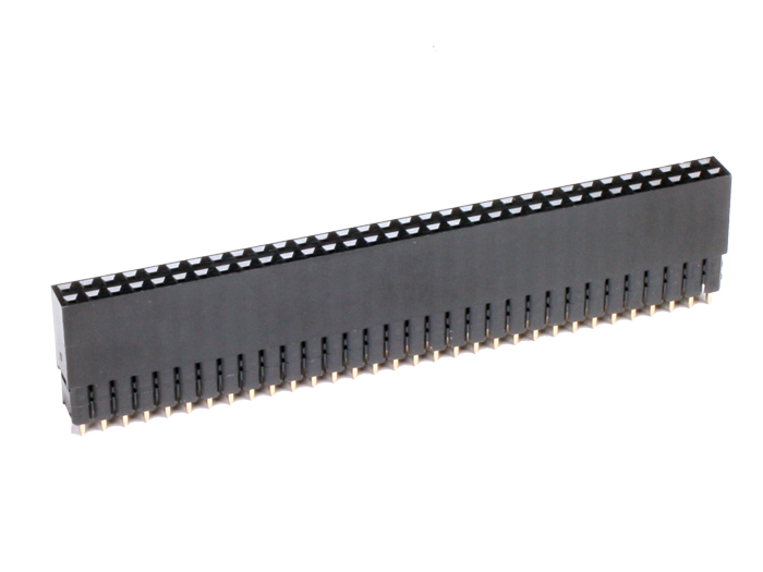 2.54 mm Pitch - Straight Female Header Strip - 64 Pins - 5552-3645