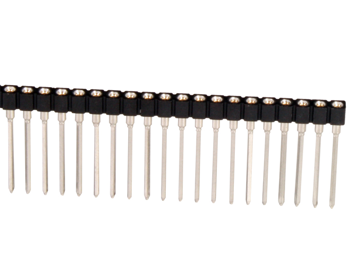 Barrette Femelle Droite Sécable pour Wire-Wrap - Pas 2,54 mm - 32 Pôles - 323.87.132.41.001101