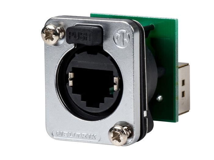 Neutrik etherCON - Connecteur Femelle Panneau 8P8C - RJ45 - NE 8 FDP