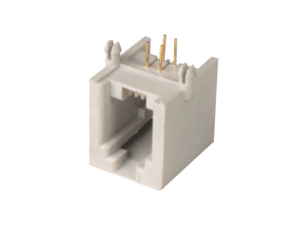 Female Printed Circuit Board Mount 4P4C - RJ10 - Horizontal
