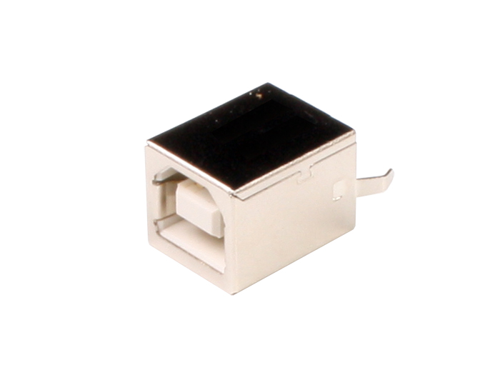 Ficha USB-B Fêmea Circuito Impresso Reto - USBFBSD1WL