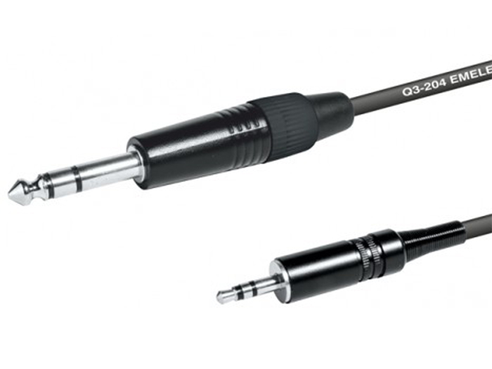 3.5 Stereo Jack Male to 6.3 Stereo Jack Male Cable - 2 m - EQ610602S