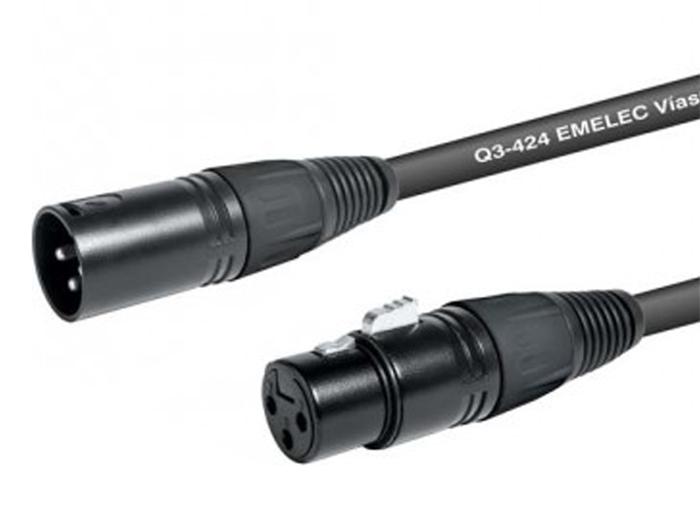 3 Pole Male XLR to 3 Pole XLR Female Cable 10 m - EQ630410S