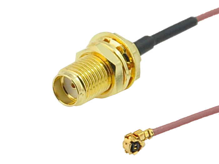 Câble RF UFL (uFL/u.FL/IPX/IPEX) Femelle avec SMA Femelle - 0.15 m