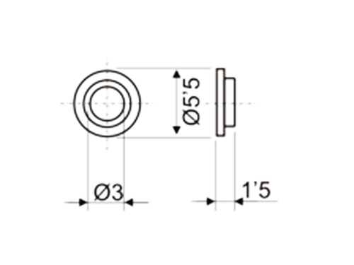 Insulating Washer for Semiconductor - 3 mm - 5.5 mm