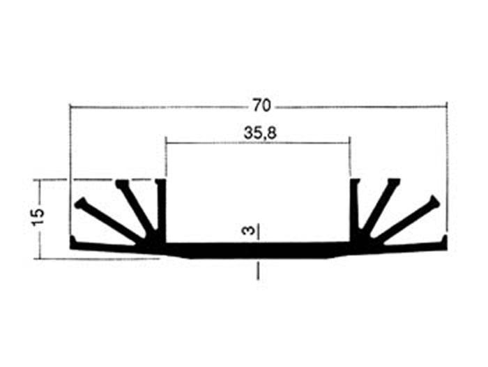 40 x 70 x 15 mm Heat Sink 1 x TO3 - 15/4/A