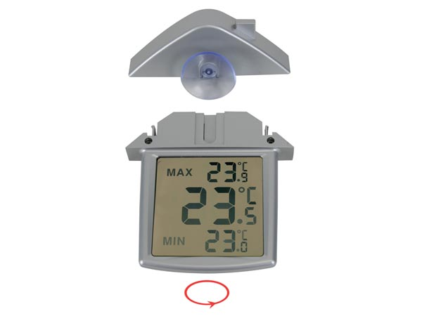 Transparent window Thermometer with min/max Indicator - TA25