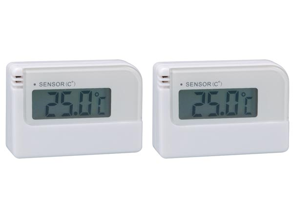 Mini digital thermometer - 2 units