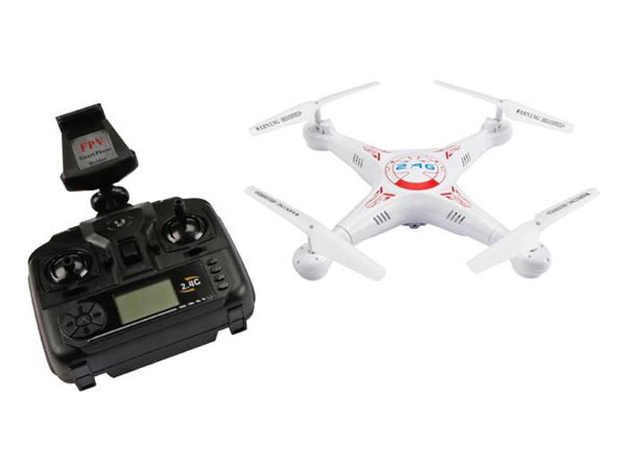 DRONE CON CÁMARA WIFI Y SISTEMA FPV (720P) - TRANSMISOR DE 4 CANALES 2.4 GHz - VELLEMAN RCQC3