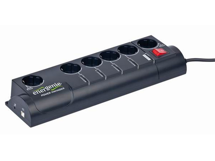 EnerGenie EG-PMS2 - Smart, Programmable Power Strip with surge Protection - USB