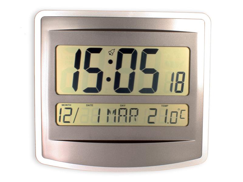Reloj de Pared con Termómetro - Dígitos Grandes - FM-GLA