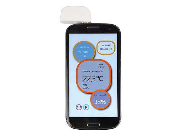Portable Thermometer Hygrometer for Mobile Devices - PCMPTEMP