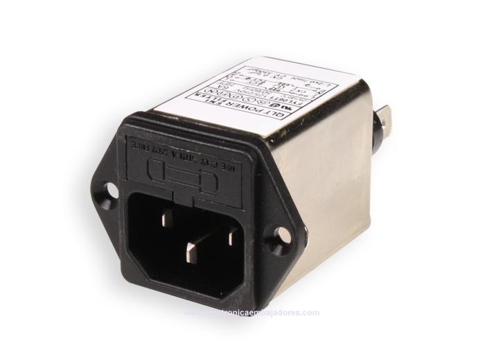 FILTRO EMI/EMC CON BASE IEC60320 C14 Y FUSIBLE