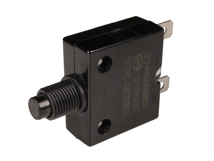Automatic 30 A 250 Vac fuse - thermal circuit breaker